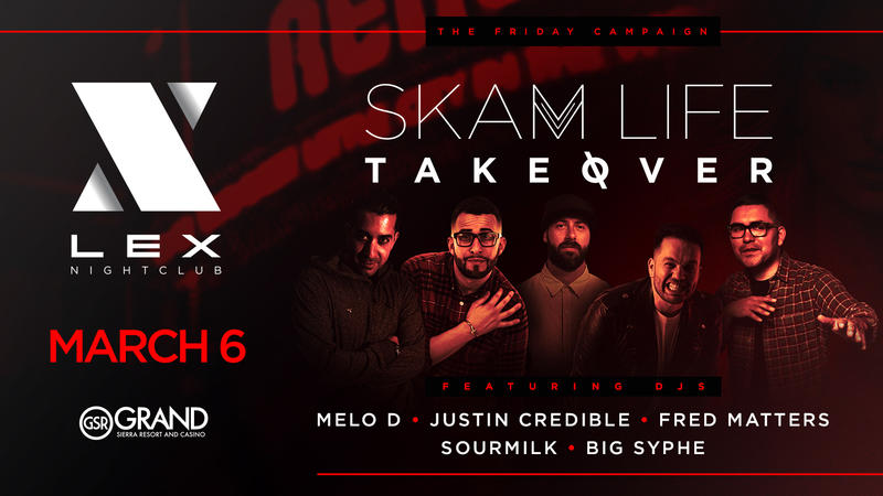 5 extremely talented DJs from around the country. One Night. SKAM LIFE TAKEOVER!